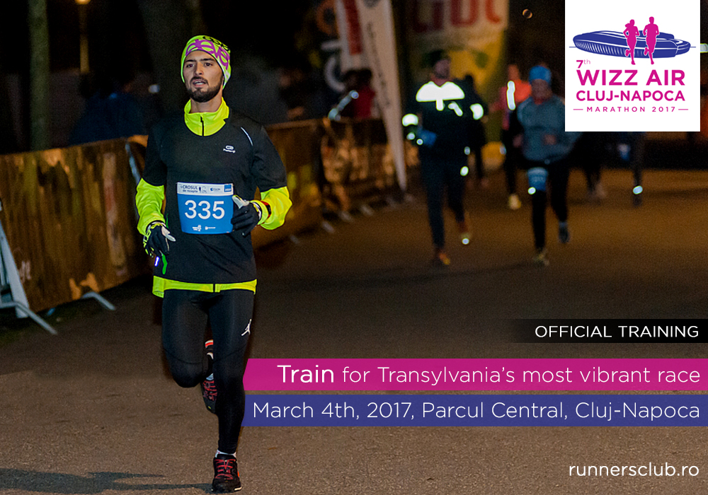 antrenament oficial cros de noapte Wizz Air Cluj-Napoca Marathon